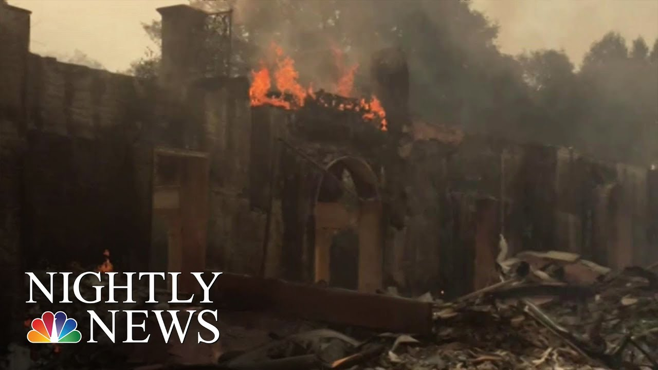 Thousands Of California Residents Evacuate Amid Wind-Fueled Wildfires | NBC Nightly News