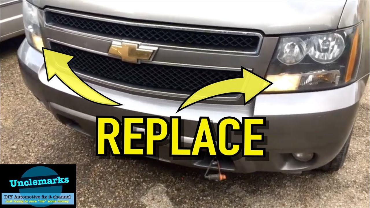How To Change Daytime Running Light Bulbs On A 2009 Chevrolet Tahoe Part1