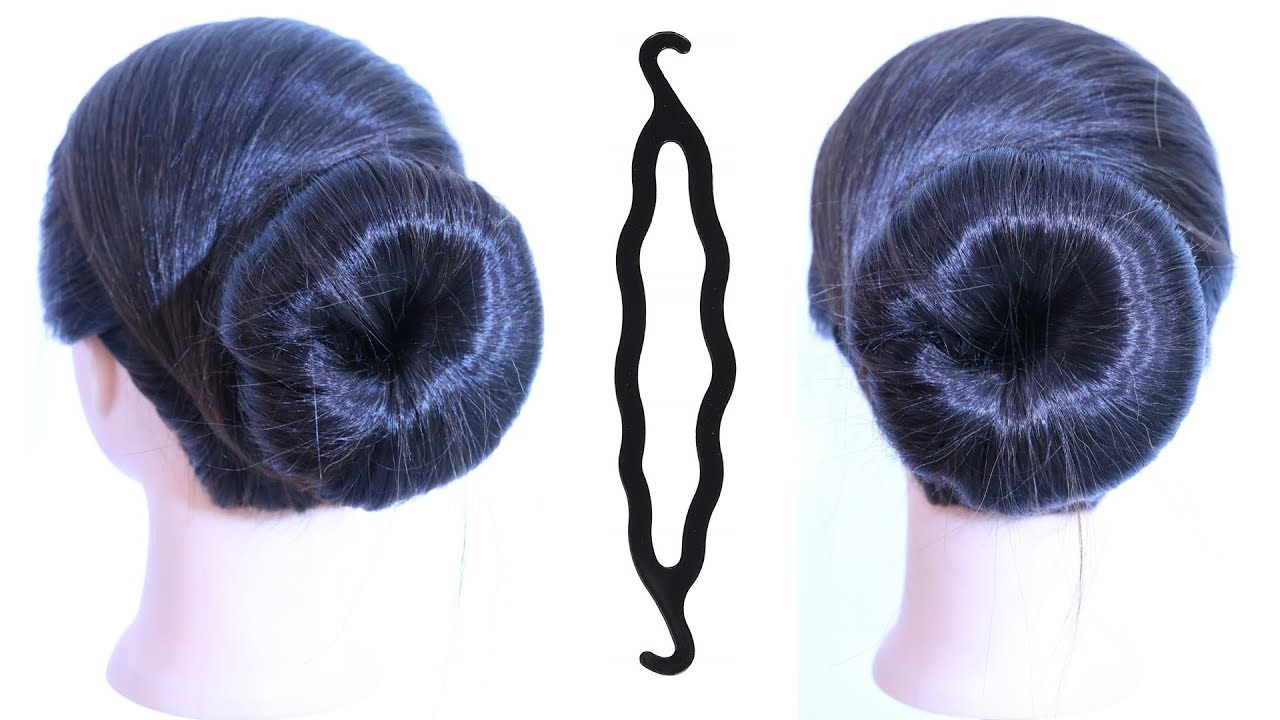 very easy and simple juda hairstyle using magic hairlock || everyday hairstyle || formal ...