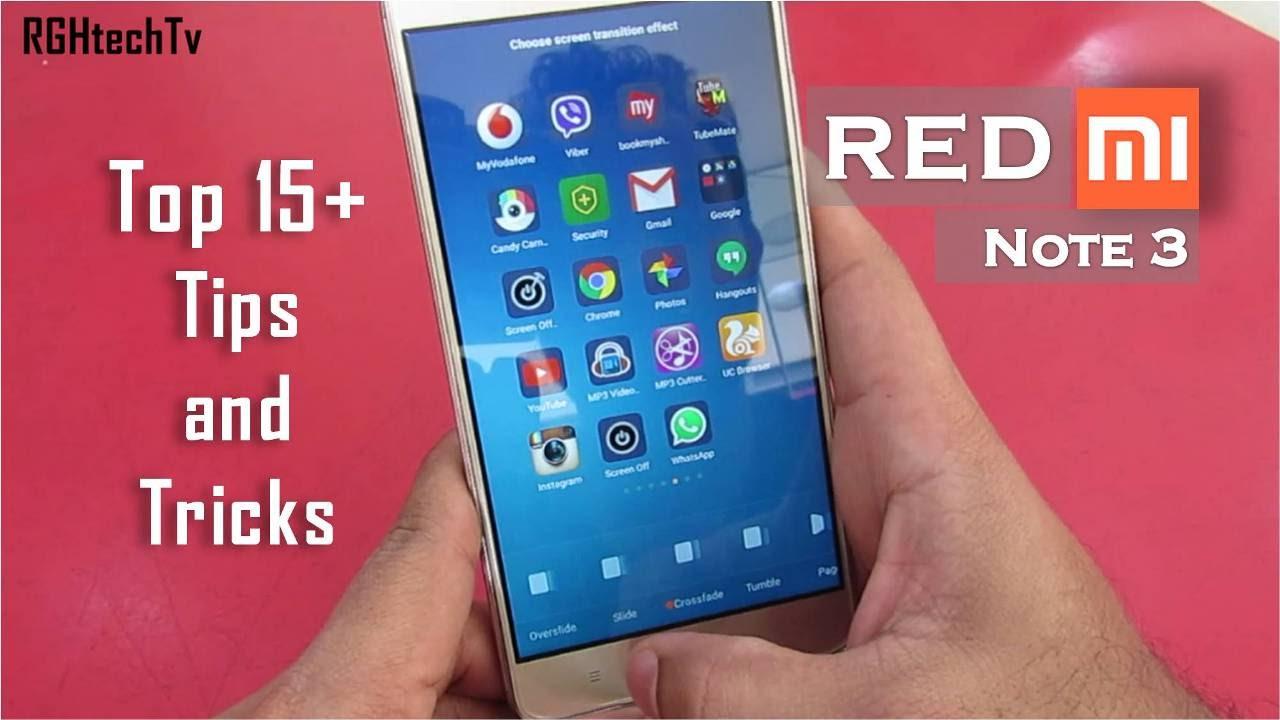 Xiaomi Redmi Note 4 Tips And Tricks: 15+ Xiaomi Redmi Note 3 Tips And Tricks