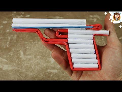 Como hacer Pistola de Papel que Dispare