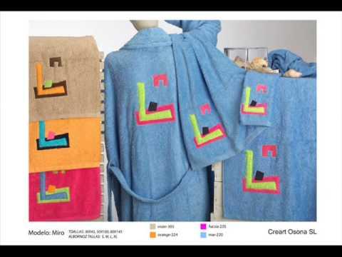 Albornoces bordados juegos de toallas alfombras de ba o - Albornoces de bano ...