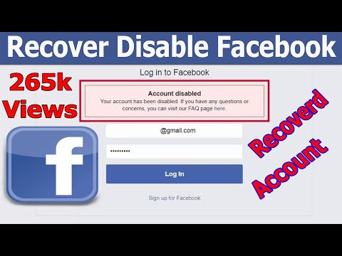 How To Open Disabled Facebook Account 2017 Updated