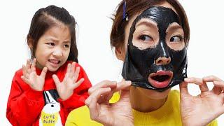 문어 마스크팩은 너무 신기해요!! 서은이의 콩순이 비누 미용실 놀이 핑크퐁 아기상어 팡팡 풍선 Baby Shark Balloon Mask Pack Seoeun Story