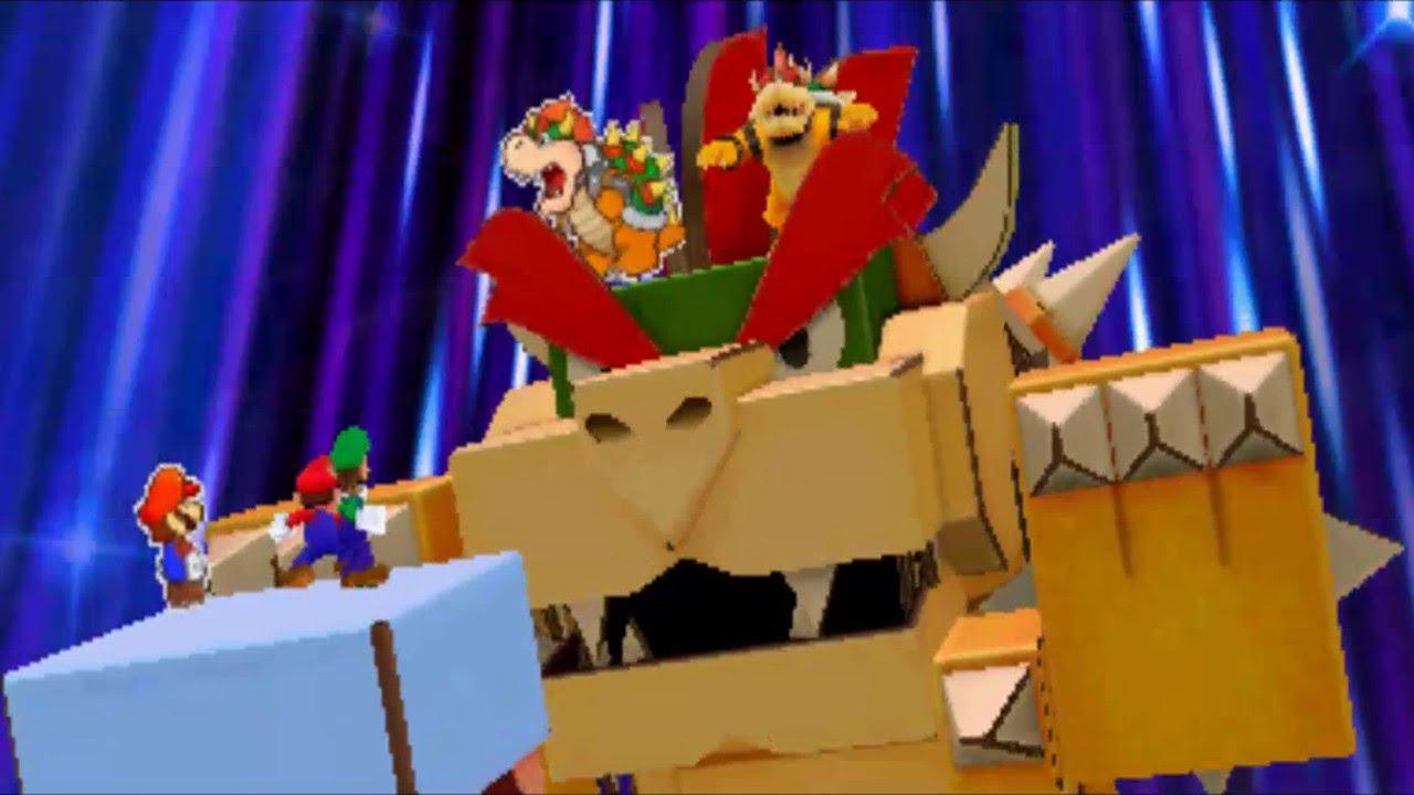 Papercraft Mario & Luigi: Paper Jam - Papercraft Bowser Boss Battle