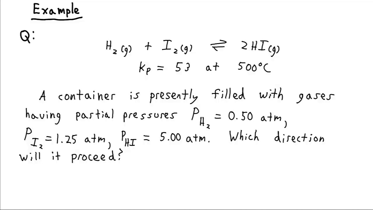 how to calculate reaction quotient q