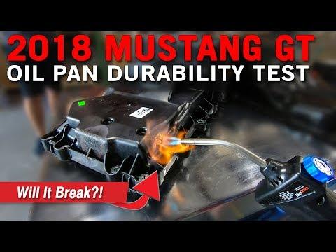 2018 Ford Mustang GT Plastic Oil Pan Durability Test | MAXIMUM DESTRUCTION!!