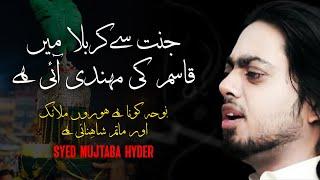 Janat say karbala main qasim ki mehndi ai hay by SYED MUJTABA  HYDER NAQVI 2012 (HUM ALI a.s WALAY)