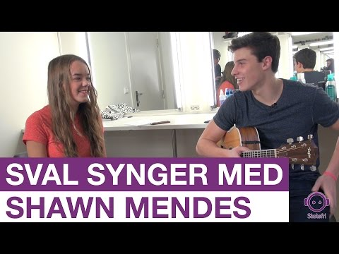 Sval synger Stitches for Shawn Mendes    Skolefri    NRK Super