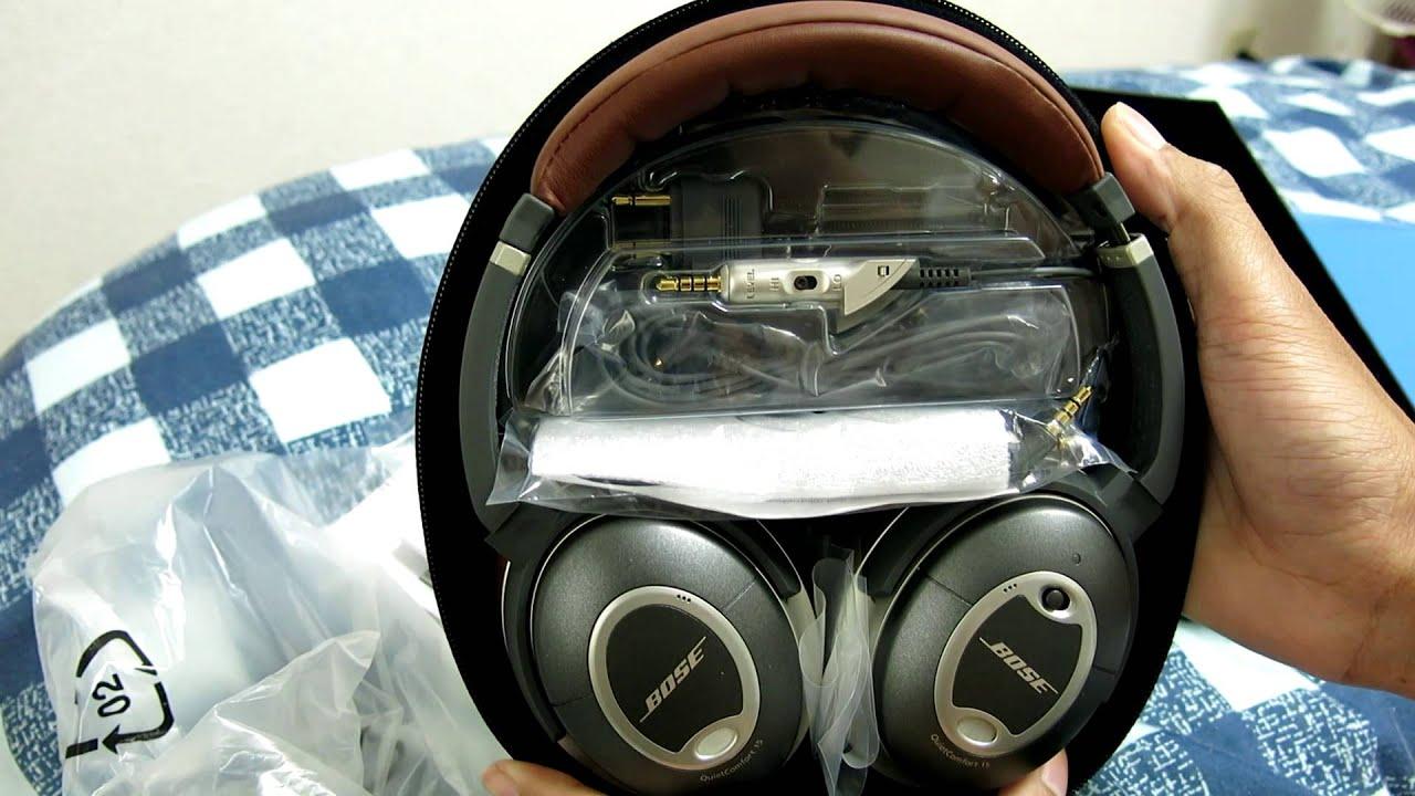 Bose® quietcomfort® 15 acoustic noise cancelling® headphones.