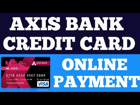 Axis Bank Credit Card Bill Payment Online By Other Bank