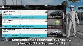 Forza Motorsport 7 - September #Forzathon Events #1 (August 31 - September 7)