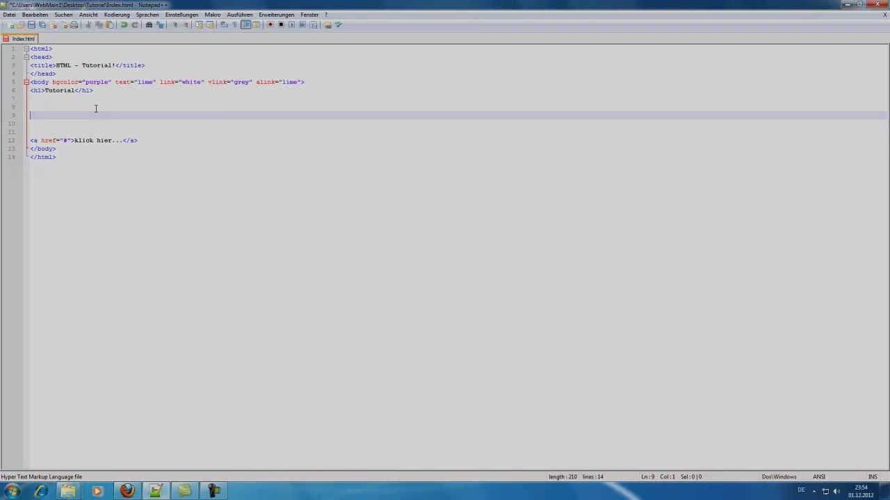 Hintergrund andern html