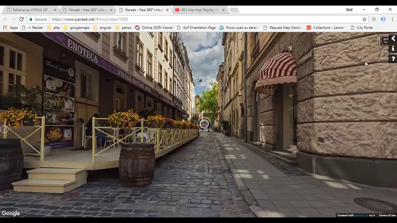 Paneek - How to insert a 360° virtual tour in a website