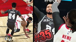 NBA 2k18 MyCAREER - Snapped James Harden Ankles! Nasty Contact Posterizer Dunk on 7ft Center! Ep. 35