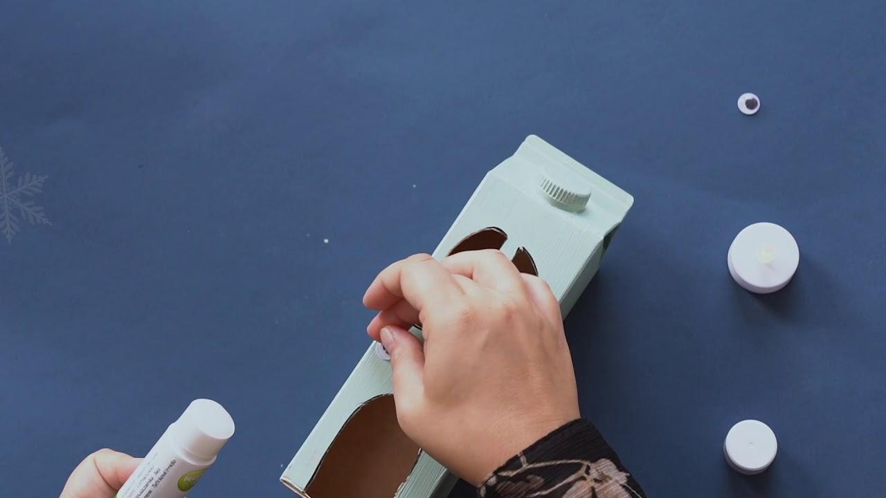 Lav dine egne huse - juleklip af Arla® ØKO mælkekartoner