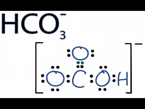 HCO3- Lewis Structure: How to Draw the Lewis Structure for HCO3-
