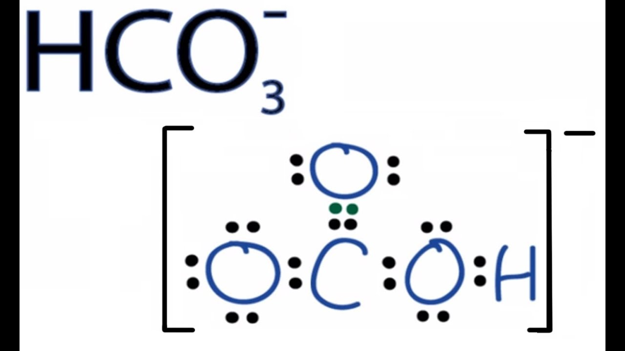 medium resolution of hco3 lewis structure how to draw the lewis structure for hco3