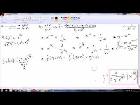 Ejercicio 18 derivadas