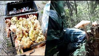 Дачный шашлык | Первая ночевка | В лес за грибами