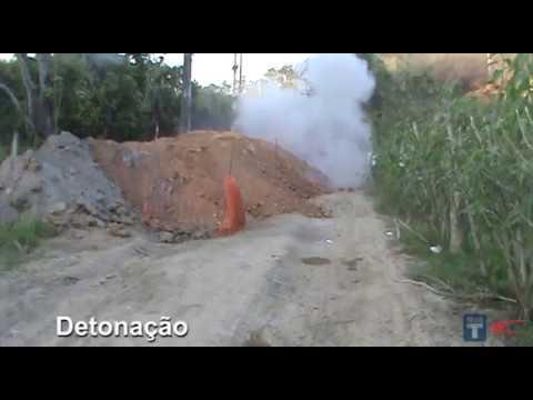 Obra de Saneamento • Detonação de Explosivos