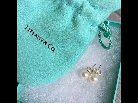 Tiffany Co Pearl Earrings