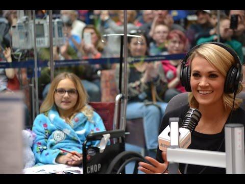 Carrie Underwood Visits Seacrest Studios & Answers Patient Questions