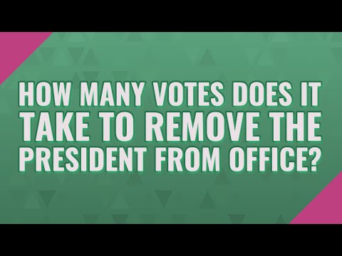 vote to remove from office