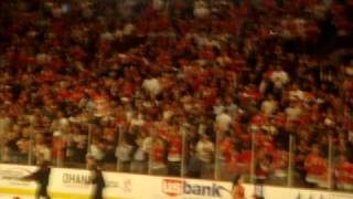 Patrick Kane HAT TRICK from GAME # 6 Chicago Blackhawks VS Vancouver BEHIND THE VANCOUVER BENCH!!!!