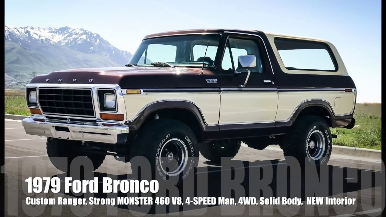1979 Ford Bronco Manual Transmission Basic Instruction 1980 Custom Interior Strong Monster 460 V8 4 Speed New Rh Youtube Com For Sale