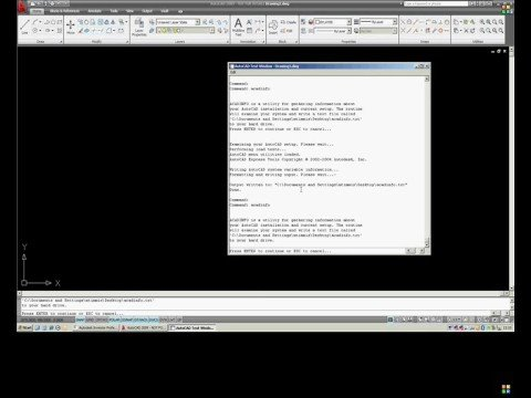 Tip - Output AutoCAD install options and settings to txt