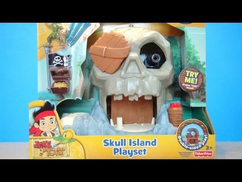 JAKE AND THE NEVERLAND PIRATES SKULL ISLAND DISNEY FISHER PRICE VIDEO TOY REVIEW
