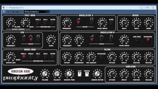 Prophanity Prophet 5 clone version 1.2 by Chris Roberson / Roberson Audio