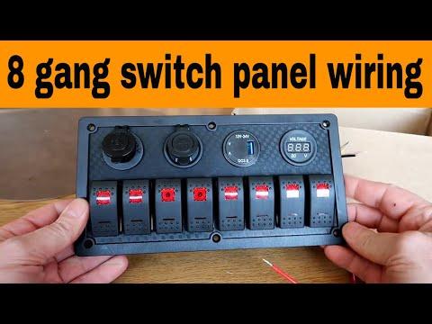 CT-CARID 12V 4 Gang Switch Panel LED Light Circuit Breaker for Car Boat Marine RV Truck Camper Vehicles Red