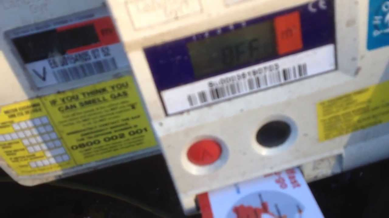 Resetting a pay as you go gas meter