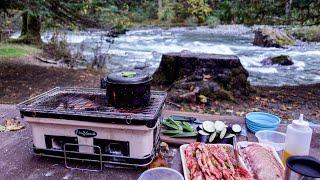 DELICIOUS CAMP MEAL IĎEA | Grilling Wagyu Short Rib | Mushroom Foraging
