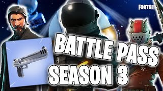 🔺 FORTNITE-SEASON 3 BATTLE PASS-NEW PISTOL + GRAMADAAAA SKINURI!