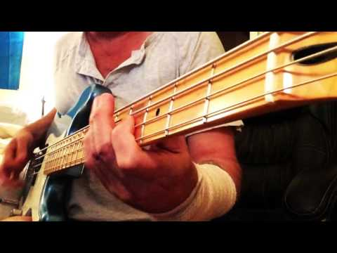 """""""DUST ON THE BOTTLE"""" By David Lee Murphy BASS GUITAR COVER Boosted"""