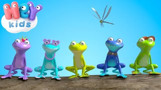 Пятеро лягушат - Учимся считать - Песни для детей