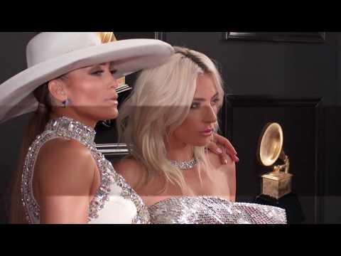 Jennifer Lopez w/Lady Gaga On The Red Carpet | 2019 GRAMMYs