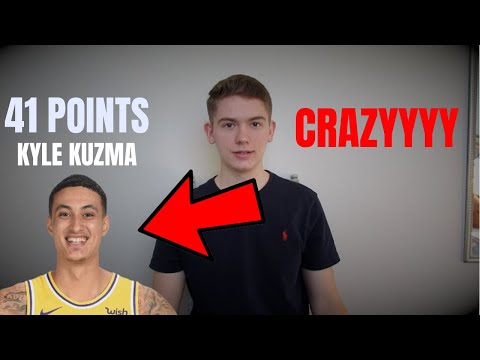 KYLE KUZMA DROPS 41 POINTS AGAINST THE PISTONS and Blake griffin!!! Lakers vs Pistons reaction