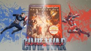 Captain America: Civil War 3d Bluray Unboxing