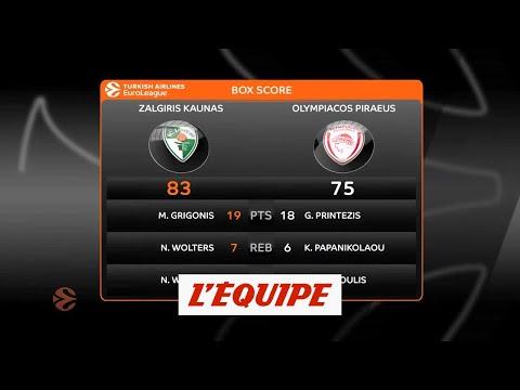 Kaunas retourne la situation face à l'Olympiakos - Basket - Euroligue (H)