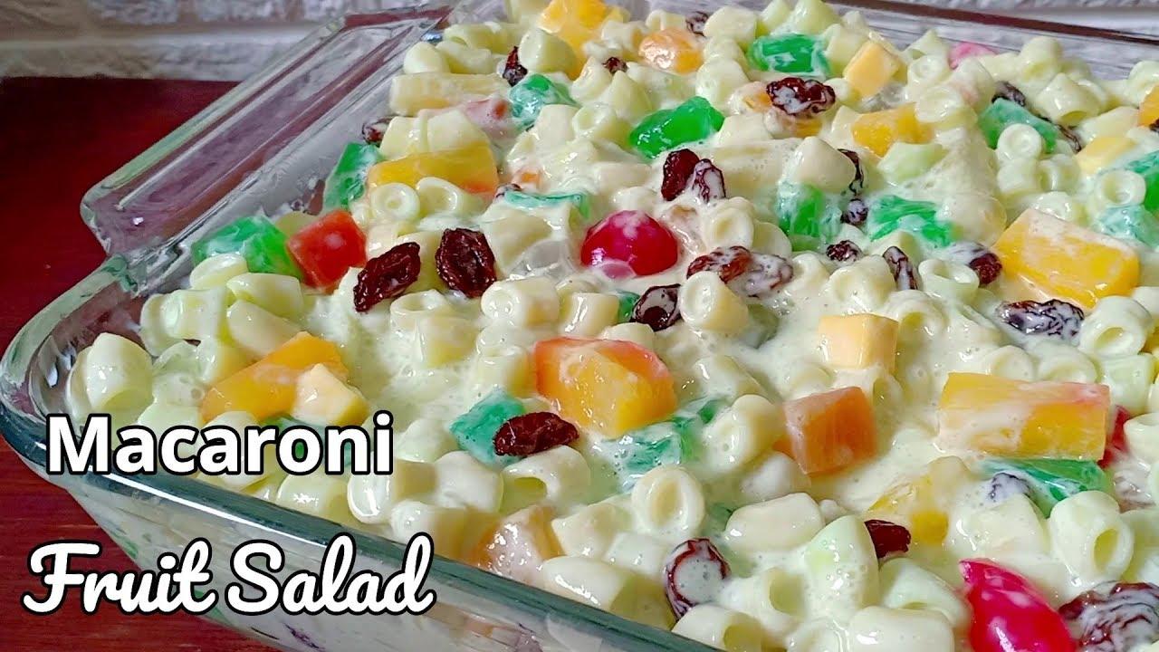 Macaroni Fruit Salad How To Make Macaroni Fruit Salad Pinoy Style Youtube
