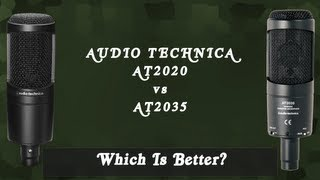 [Unboxing + Comparison] Audio Technica AT2035 vs. AT2020