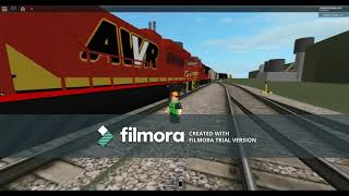 ROBLOX AWVR 777 & 767 The Runaway Freight Train from the Movie called Unstoppable