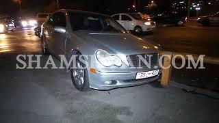 Ավտովթար Երևանում  բախվել են Volkswagen ն ու Mercedes ը  վերջինը բախվել է նաև երկաթե արգելապատնեշին
