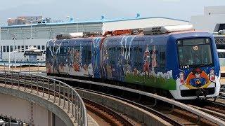 2017/07/19 釜山-金海軽電鉄 1000系 07編成 空港駅   Busan-Gimhae LRT: 1000 Series 07 Set