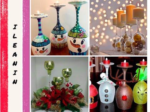 Centros De Mesa Con Copas 20 Ideas Decoración Para Navidad