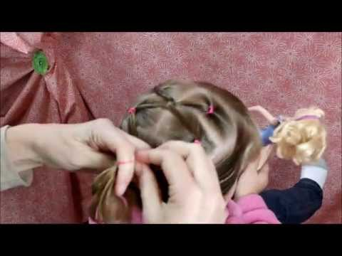 Twist Link Hairstyle For Gymnastics and Girls